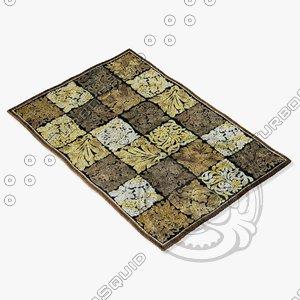 loloi rugs hl-10 black 3d model