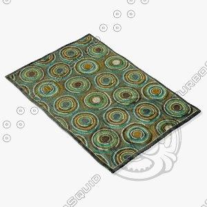 3d model loloi rugs hl-12 gray