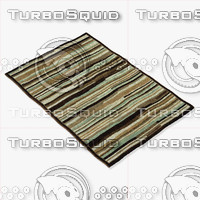 3d loloi rugs hl-13 blue model