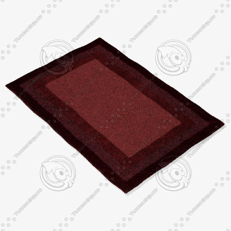 3d model loloi rugs hn-01 red