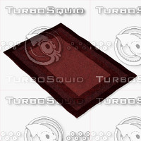 3d model loloi rugs hn-01 red