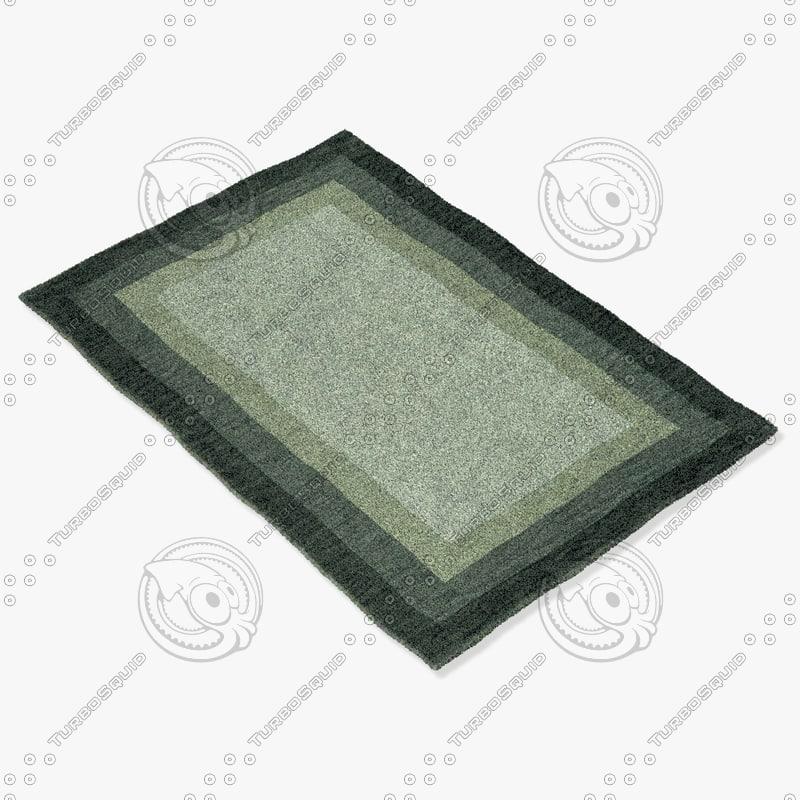 3d model loloi rugs hn-01 slate