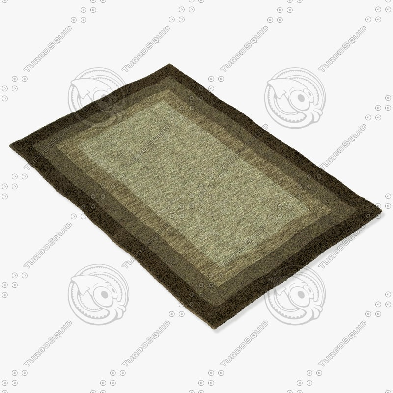 3d model of loloi rugs hn-01 tobacco