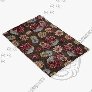 3d model loloi rugs jl-01 brown