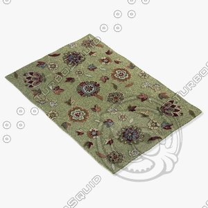 3d model of loloi rugs jl-02 green