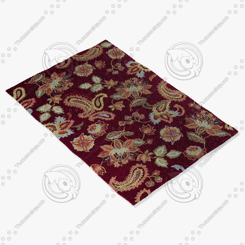 loloi rugs jl-03 red 3d 3ds