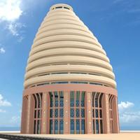 3d model artistic building
