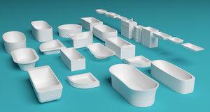 c4d bath tubs sinks