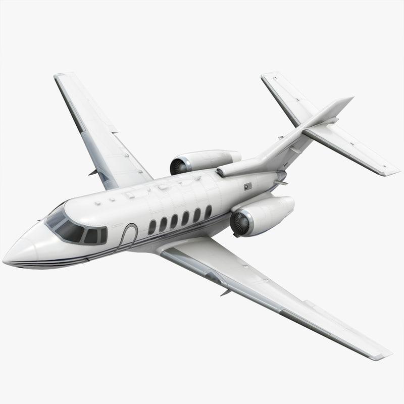 3d model hawker 800xp private jet
