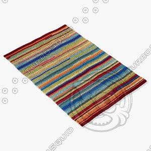 loloi rugs jl-10 multi 3d model