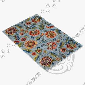 loloi rugs jl-11 blue 3d model