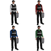 3d pack rigged csi agent