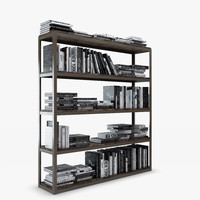 Axel Double Bookcase - Natural