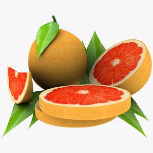 3d grapefruit mix