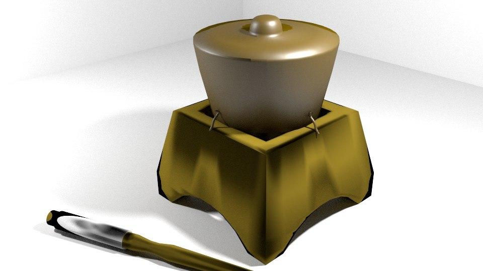 empluk musical instrument 3d 3ds