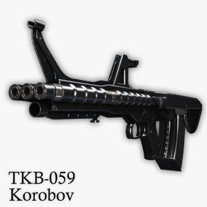 3ds tkb-059 assault rifle korobov