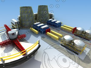 3d model industrial architecture