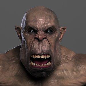 3d ogre troll fantasy