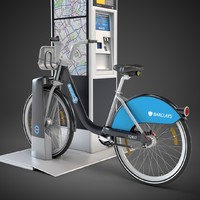 barclays cycle hire sharing 3d model
