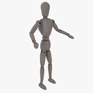 3d model rigged ists mannequin