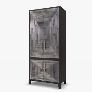 coco republic parker armoire 3d max