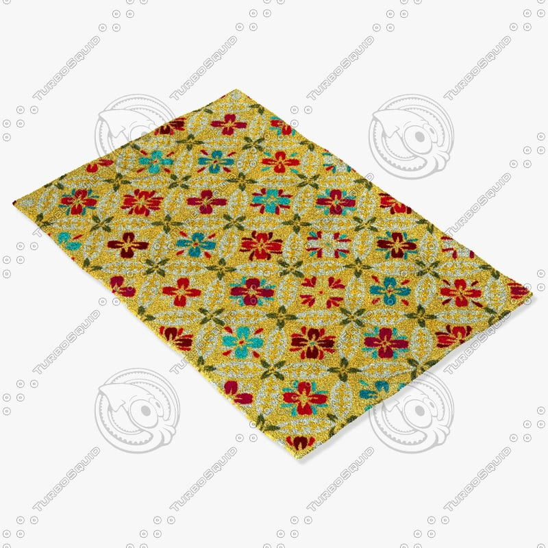 loloi rugs jl-25 buttercup 3d model