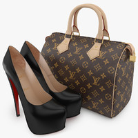 3ds max louboutin vuitton