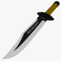 3d model amazon survival knife
