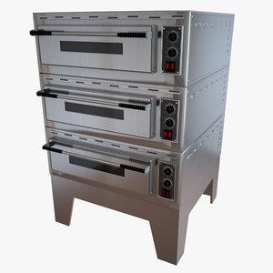 3d pizza oven model