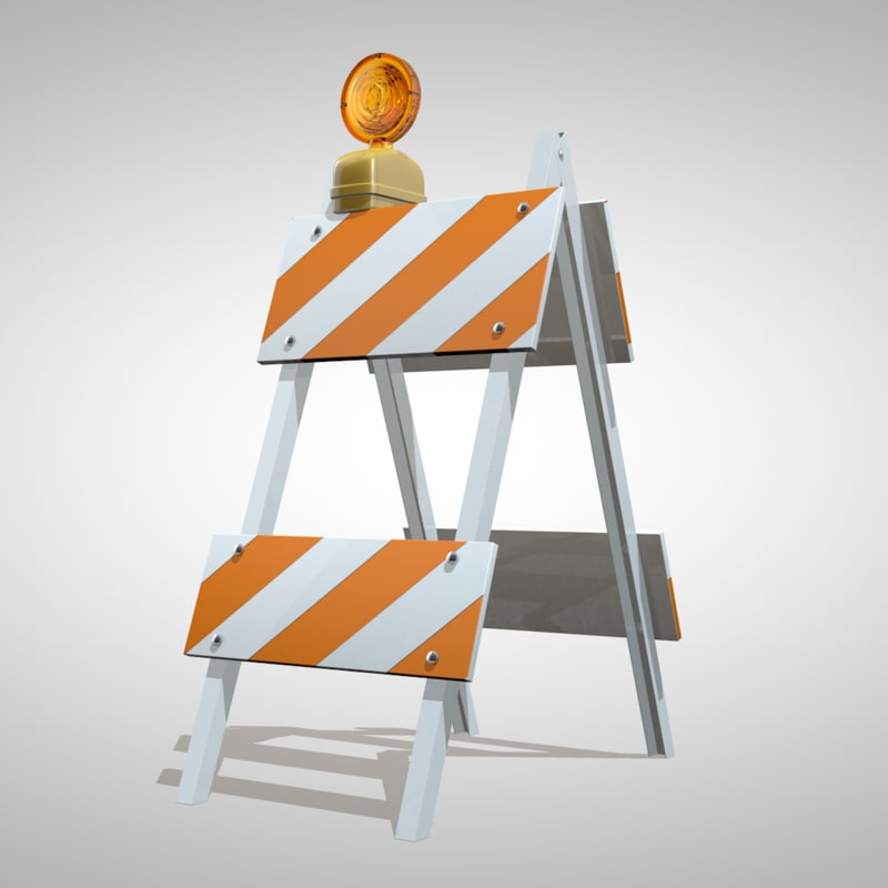 c4d road barrier