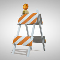 c4d road barrier