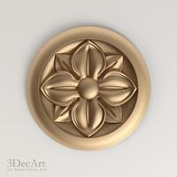 3d decorative rosettes model