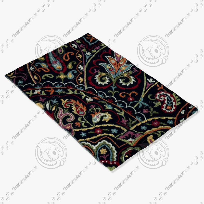 3d model loloi rugs jl-32 black