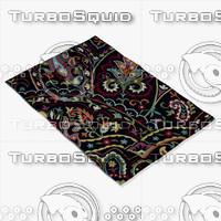 3d model loloi rugs jl-32 black