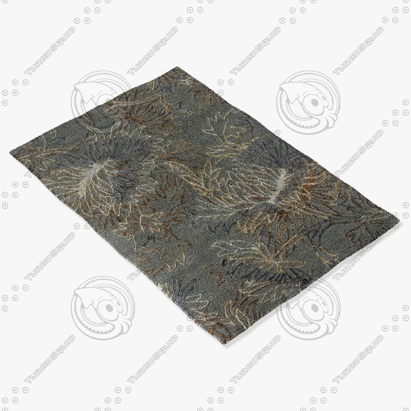 3d max loloi rugs kn-01 blue