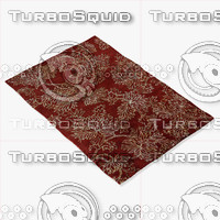 3d loloi rugs kn-04 red model