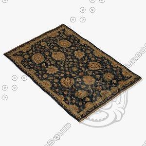 3d loloi rugs le-01 charcoal model