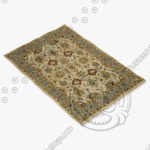 3d loloi rugs le-04 beige model