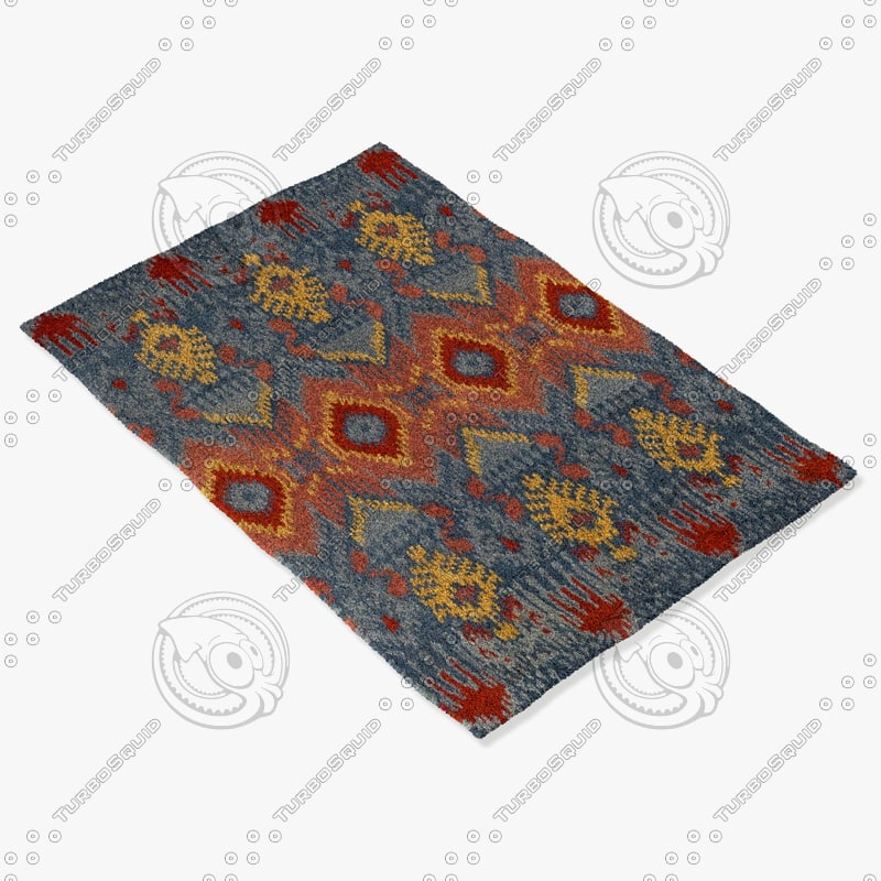 3d model loloi rugs ly-01 blue