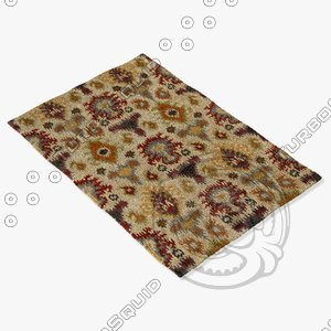 3d loloi rugs ly-02 ivory model