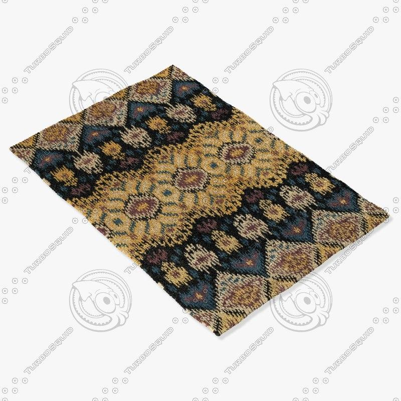 3d model loloi rugs ly-03 black