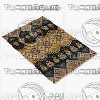 3d model loloi rugs ly-03 black