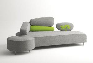sofa bruhl 3d obj