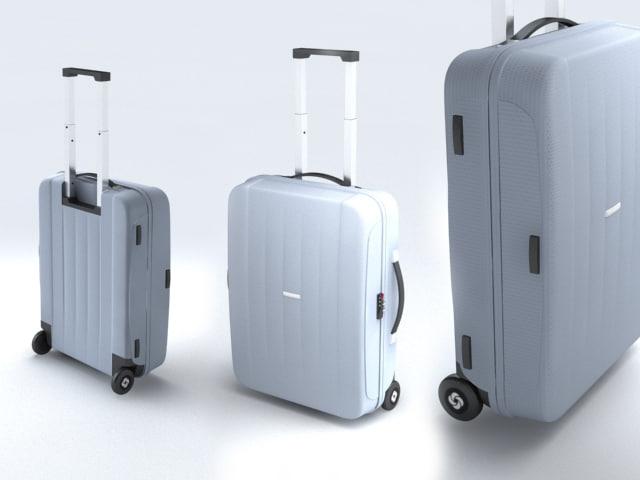 3d suitcase samsonite velocita upright model