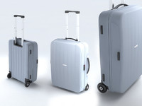 3d suitcase samsonite velocita upright model