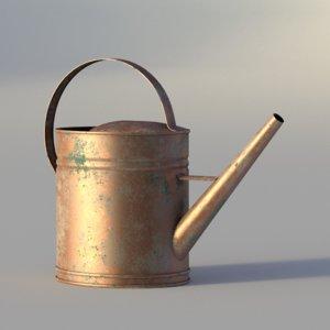 3d copper watering model