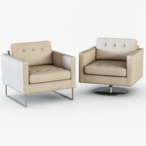 3d model armchair headline chair
