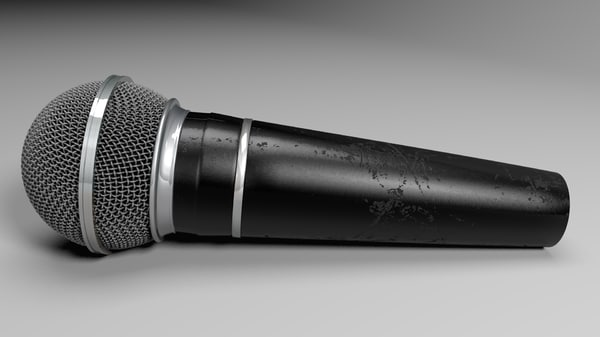 microphone mic obj