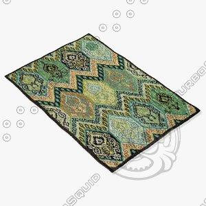 3d model loloi rugs mf-09 multi