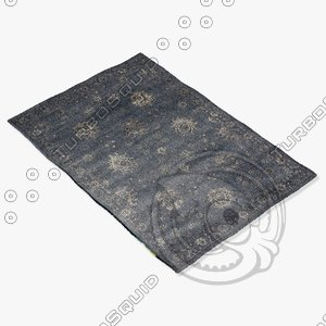 loloi rugs my-03 charcoal 3d model